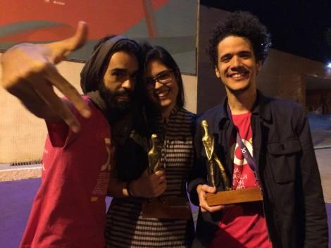 Ramon Coutinho, Bianca Muniz e Marcus Curvelo - 50º Festival de Brasília do Cinema Brasileiro